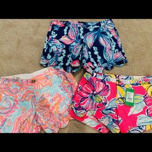 3 *New* pair of Lilly Pulitzer Shorts - Size 00